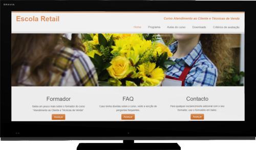 Plataforma curso Atendimento ao Cliente e Técnicas de Venda